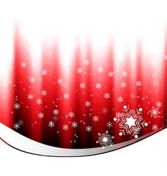 White snow falling on red background vector image