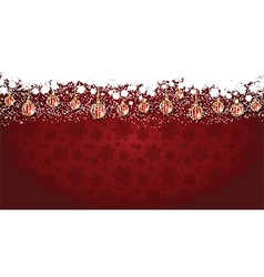 Widescreen Christmas background vector image