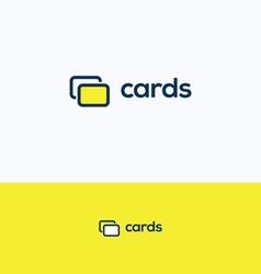 Cards c logo vector