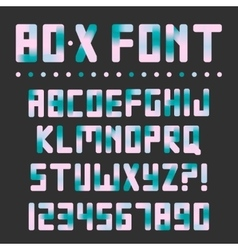 Colorful bright font vector image vector image
