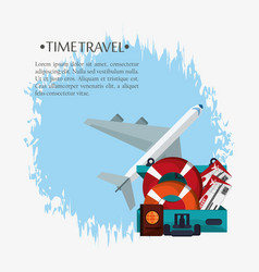 time travel poster promotion vacation vector image