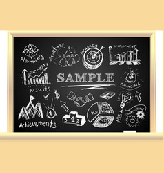 Creative blackboard idea vector image
