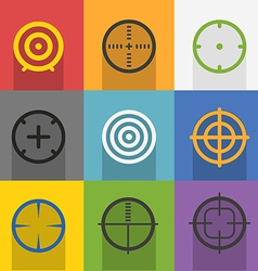 Different targets collection vector image