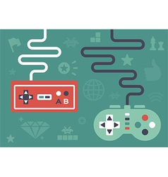 Flat Gaming Controllers vector image vector image