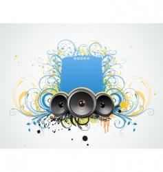 grunge music frame vector image vector image