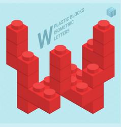 plastic blocs letter w vector image vector image