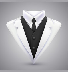 triangle jacket and tie art vector image