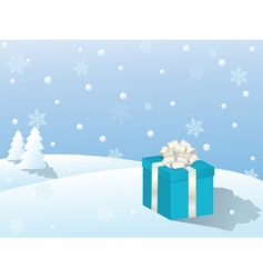 vector winter scene vector image vector image