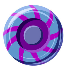 blue and purple sweet lollipop candie icon vector image