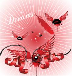dreamy background vector image