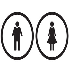 Icon set gender male and female vector image