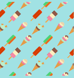 pattern of ice cream flat vector image vector image