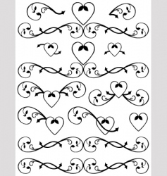 scroll set vector image vector image