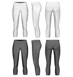 womens 34 length compression vector image vector image