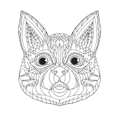 Zentangle stylized cat Sketch for tattoo or t vector image