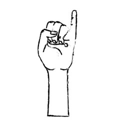 Figure cute hand with pinky up symbol vector