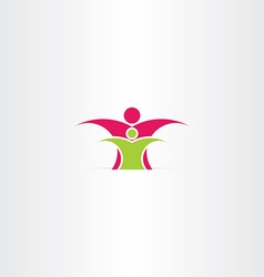 parent and child icon design vector image