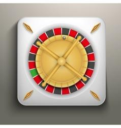 Realistic icon roulette casino vector