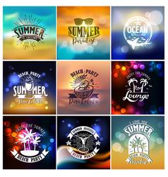 Summer designs on tropical beach night life vector