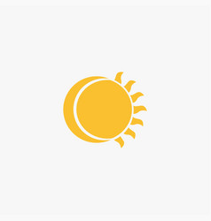 sun and moon icon vector image