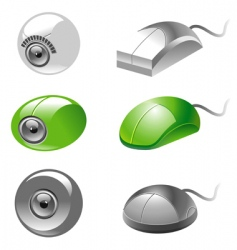 webcam and mice icons vector image