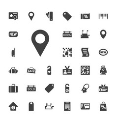 33 tag icons vector