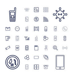 37 cell icons vector