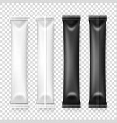 3d realistic white and black long slim vector