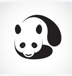 A panda design on a white background wild animals vector