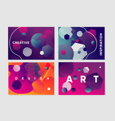 abstract backgrounds set with curved lines vector image