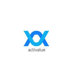 Abstract letter av au logo icon template infinity vector