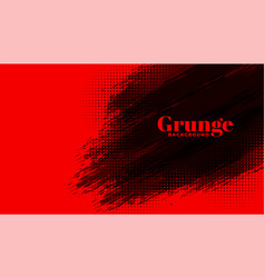 abstract red background with black grunge effect vector image