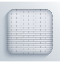 App brick icon on blue background Eps10 vector