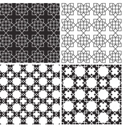 arabic pattern background set collection mandala vector image