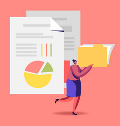 Audit analysis inspection concept woman vector