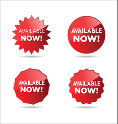 Available now stickers and tags collection vector