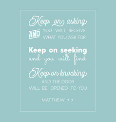 Bible quote from matthew vector
