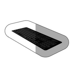Black computer keyboard icon vector