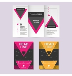 brochure layout design template vector image vector image