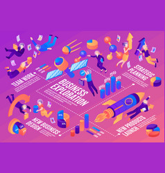 business space isometric infographics vector image