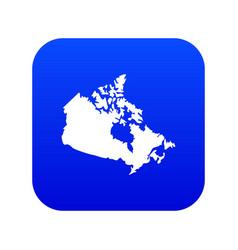 canada map icon digital blue vector image
