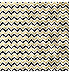 Chevron black white gold pattern vector