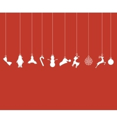 Christmas decorations paper tape vector