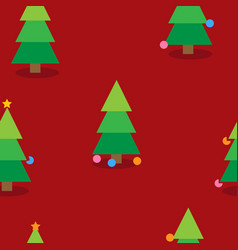 christmas seamless pattern with christmas trees vector image