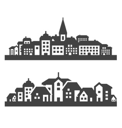 City icons set signs and symbols vector