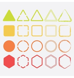 Colored shapes design elements vector