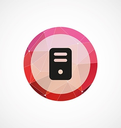 Computer circle pink triangle background icon vector