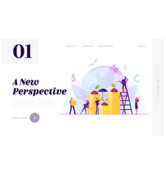 corporate social responsibility website landing vector image