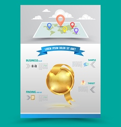 design Layout template in A4 size vector image