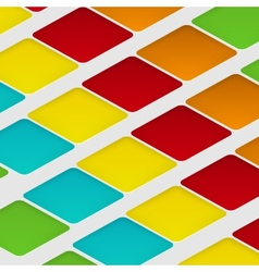 design rhombus on the color vector image
